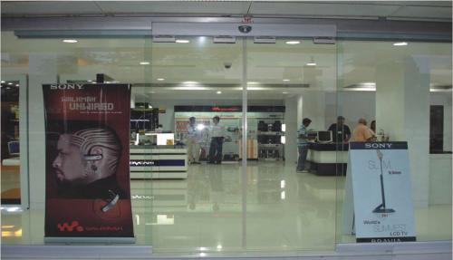 Auto Sliding Glass Door Sony Showroom